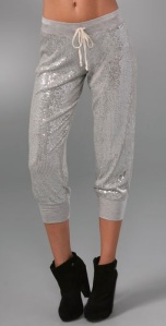 sequined sweatpants